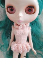 Hand knit Poofy Panty Onesie for Blythe by kivrin82