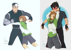 Pidge likes to hug by Fennethianell
