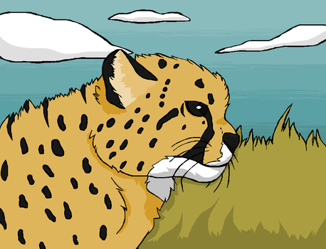 Relistic Cheetah Drawing by creepyponylover