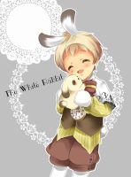 white rabbit by Kyuutchi