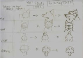 Wolf Head Tutorial by kching23432