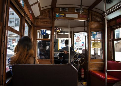 The girl in the tram by Mariana505