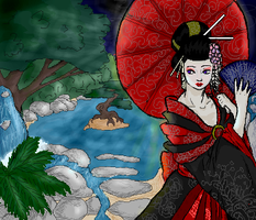 Geisha -colored- by grimzee