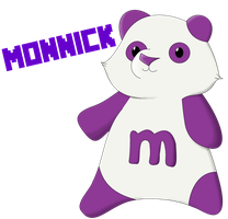 COLLAB ~ Monnick ~ The Purple Panda by TheDragonsCove