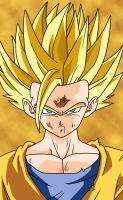 SSJ2 Gohan Coloured by DranzertheEternal