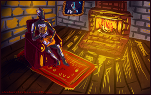 Zer0 reading with a cat by Tobizord