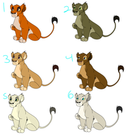 Lioness Cub Adoptables 2 CLOSED by HughJackmansPet