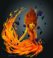 Adventure Time's Flame Princess by AllisonTyree