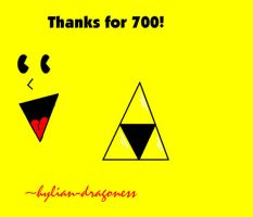 Thanks for 700 :D by hylian-dragoness