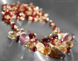 *Aurora* gemstones necklace by Arctida
