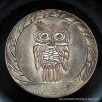 Owl Hand Carved Coin by Shaun Hughes by shaun750