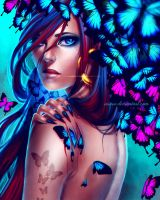 Blue Butterflies by Insaro