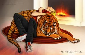 Calvin and Hobbes by Sashatiainen