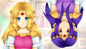 .:Collab:. Two Worlds by Marthnely-chan