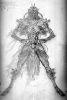 Insectoid Soldier Sketch by dark-maggot