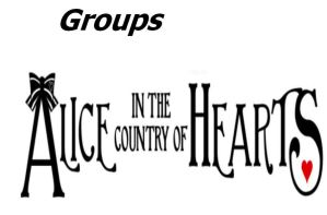 Alice in the Country of Hearts Groups by ZzZNelliezZz