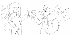 cheers to the new years by Phois