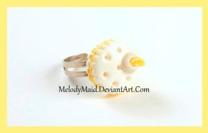 Macaroon Ring - Lemon by MelodyMaid