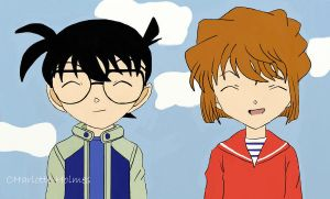 Ai and Conan- Cute by Charlotte-Holmes