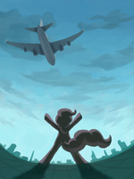 Pinkie's Plane Perspective by Fahu