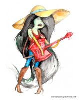 Marceline The Vampire Queen by drawingsbynicole