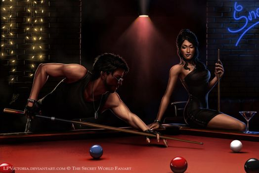 Kate and James - Snooker Party - Commission by LPVictoria