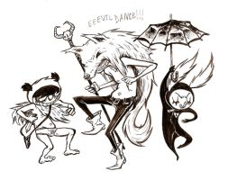 DANCE OF THE EVIL VARIETY by gedatsu-kitteh