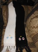 luna and artemis scarf by silvermoonmagic