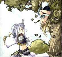 Kuja and Zidane by neomonki
