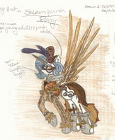My very first Steampunk Pony - coloured by VegemiteGuzzler