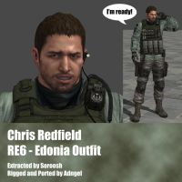 Chris Redfield RE6 Edonia Outfit by Adngel