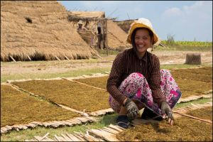 Tabacco worker Mekong river by watto58