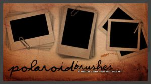 Polaroids .. Brush set 001 by KeepsakeDesigns