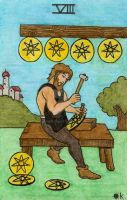 Pentacles 8 by Fernoll