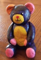 colorful teddy bear by NeithC
