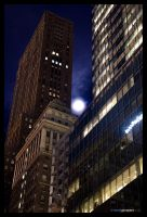 Full Moon Over 42nd by DerekProspero