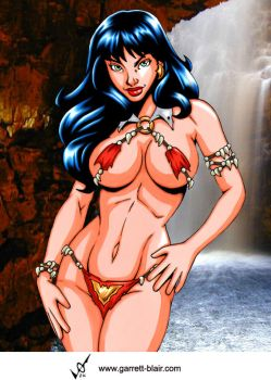 Savage Land Vampirella by Mythical-Mommy