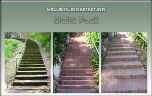 Stairs Pack 1 by shelldevil