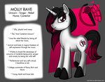 Molly Rave - The Rocker Unicorn! (OC) by AniRichie-Art