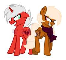 MLP Broken Heart and Falling Star [INSaNiTY] by bronypony22