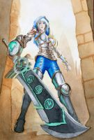 [League of Legends] [Redeemed Riven] by AsmodaeusBlack