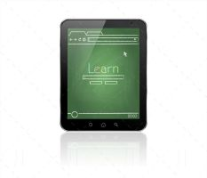 Chalkboard Webpage On A Tablet Pc by JaneVision