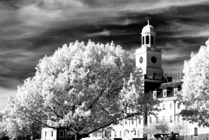 Church tower black and white by ilimel
