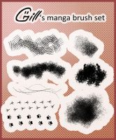 Manga brush set for Photoshop by Gill-ia