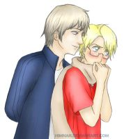 Hetalia - Ivan and Alfred by Himnar