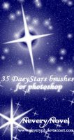 Stars Daey Brushes by Neveryph-stock