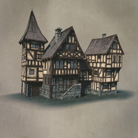 Modular medieval building kit - second test by DeepBlueDesign