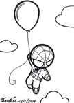 Spidey in the Sky With Balloon by Threshie