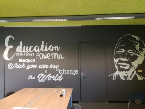 Wall painting quote Nelson Mandela 1 by bGilliand