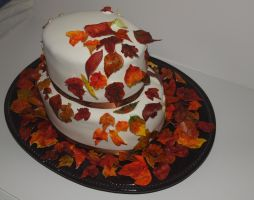 Final Leaves Cake by reenaj